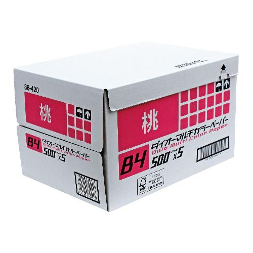 代引不可 大王製紙 法人限定品 ダイオーカラーペーパー64g/m2 B4(桃)