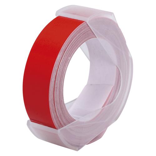 春の新作続々 定価 ¥6 000以上送料無料 オリエント エンタプライズ ダイモテープライター用テープ 赤 12mm幅 マシューズテープ
