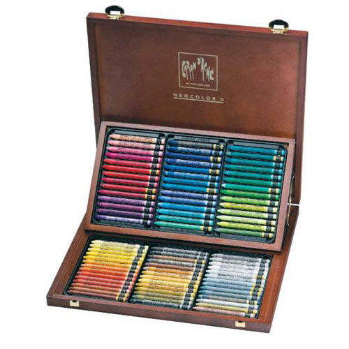 ホルベイン画材 ネオカラー2 木箱84色