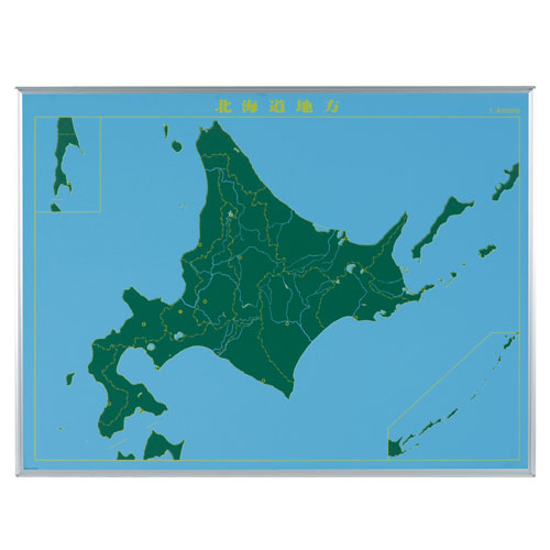 代引不可送料無料  代引不可 馬印 メーカー直送品 スチールグリーン 地図黒板 北海道