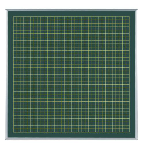 代引不可 馬印 メーカー直送品 スチールグリーン方眼黒板 表30/裏25