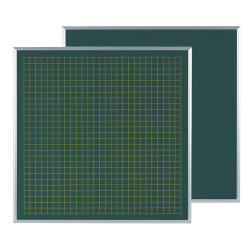 代引不可送料無料  代引不可 馬印 メーカー直送品 スチールグリーン方眼黒板 表30/裏無地