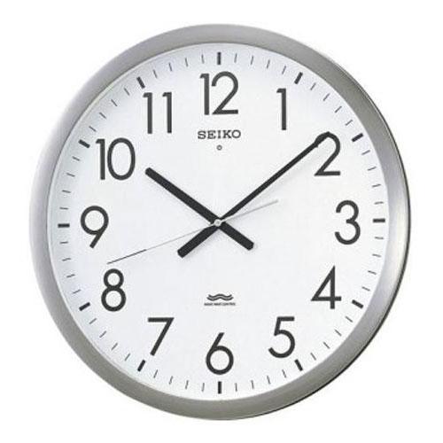 全商品ポイント3倍開催中/セイコー オフィス電波掛時計(シルバー)