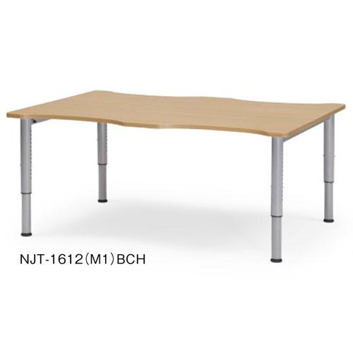 祝10周年 全商品ポイント5倍セール開催中/時間指定不可 代引不可 アイコ 法人向け 福祉対応テーブルNJT-1612 NJTテーブル(塗装脚タイプ)(ビーチ)