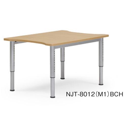 祝10周年 全商品ポイント5倍セール開催中/時間指定不可 代引不可 アイコ 法人向け 福祉対応テーブルNJT-8012 NJTテーブル(塗装脚タイプ)(ビーチ)