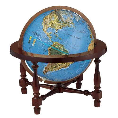 リプルーグル 地球儀 ジェームス・ウイルソン ブルーオーシャン地図(英語版)