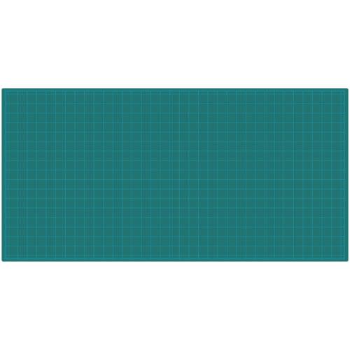 代引不可 ウチダ 法人限定品 カッティングマット コスト対応 両面 3×6 厚さ1.5mm 片面5cm方眼、裏面無地、1800X900mm(グリーン)