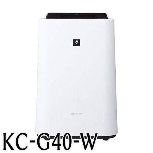 代引不可 シャープ 加湿空気清浄機 KC-G40W 高濃度「プラズマクラスター7000」技術搭載(ホワイト)