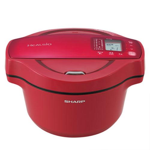 代引不可 シャープ ヘルシオ ホットクック 水なし自動調理鍋 KN-HT99B 1.6Lタイプ(レッド)
