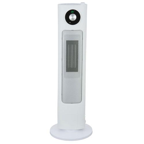 代引不可 ユアサプライムス 加湿器付セラミックヒーター(ホワイト)