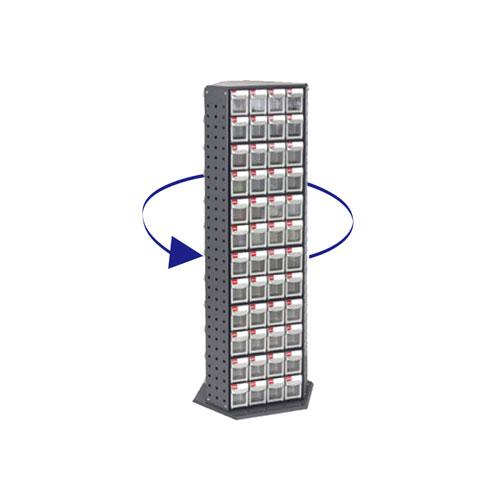 代引不可 レックス 法人限定 三面回転式パーツ整理棚【RFO-8144】 ST-32725