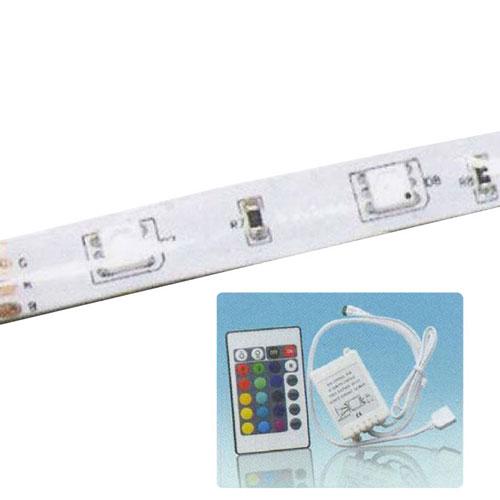 代引不可 レックス 防水LEDテープRGBマルチカラー5m&RGBコントローラー【LM155】 ST-31355
