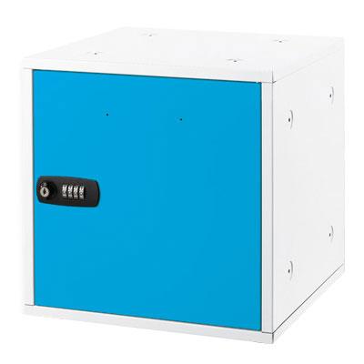 アスカ 組立式収納ボックス 4桁のダイヤル鍵付 SB500B(ブルー)