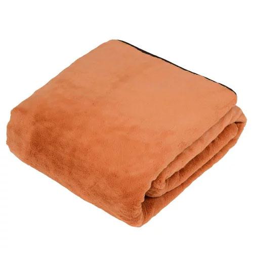 代引不可 ユアサプライムス プレミアムファー 電気掛敷毛布(オレンジ)