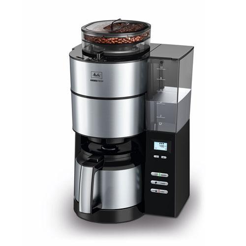 祝10周年 全商品ポイント3倍セール開催中/代引不可 メリタ 全自動コーヒーメーカー アロマフレッシュサーモ 2~10杯用 ハイエンドモデル(ブラック)