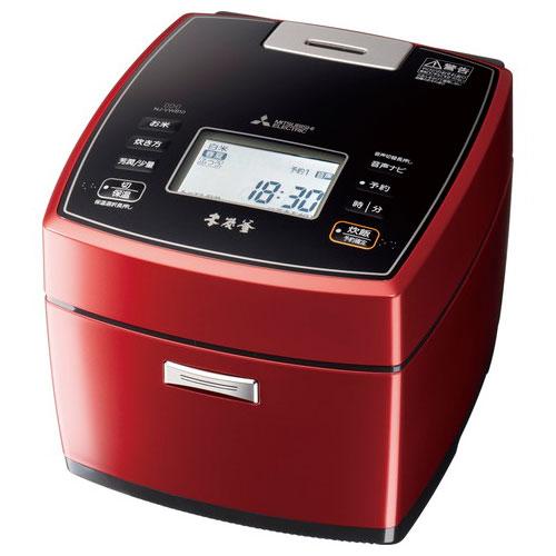 代引不可 三菱電機 炊飯器 本炭釜 5.5合炊き NJ-VWB10-R(赤紅玉)