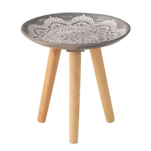 ¥6 000以上送料無料 全商品ポイント3倍4日0時より 東谷 お中元 トレーテーブルS グレー モロッコ風 定価 インテリア サイドテーブル
