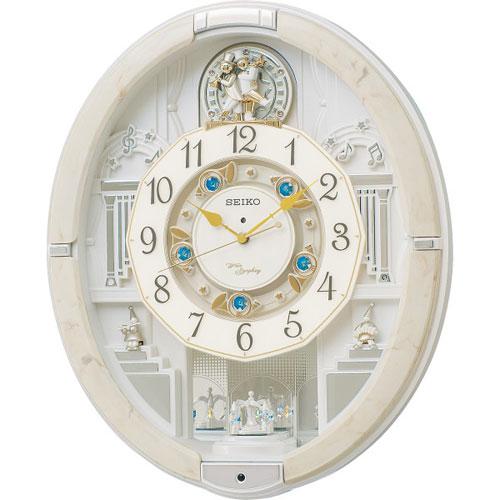 送料無料  セイコー メロディ電波からくり掛時計(39曲入) ギフト品 プレゼント 贈り物 祝い RE576A