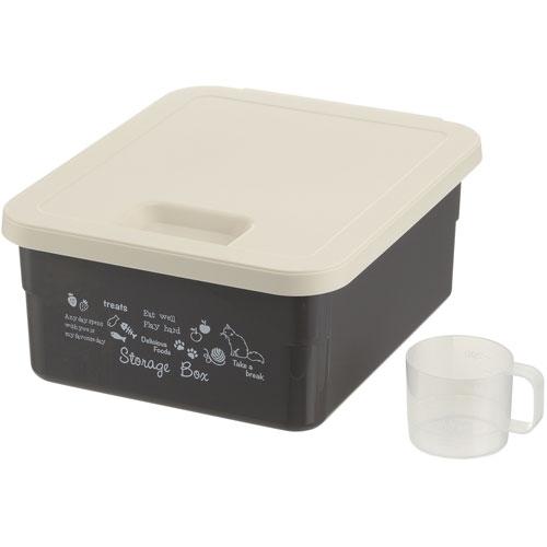 休み まとめ買い特価 ¥6 000以上送料無料 リッチェル ダークグレー ペット用品 キャットフードストレージボックス