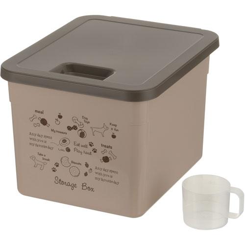 捧呈 ¥6 000以上送料無料 リッチェル ペット用品 ドッグフードストレージボックス 開店祝い ベージュ