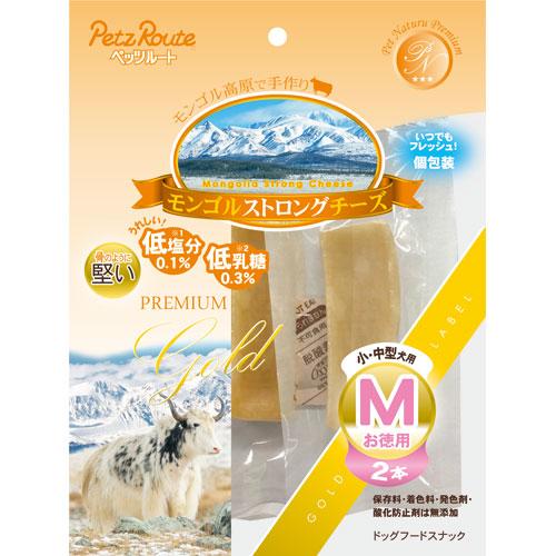 ¥6 公式サイト 000以上送料無料 全商品ポイント3倍26日23時59分まで ペッツルート モンゴルストロングチーズ 2本 高い素材 お徳用 M ペット用品
