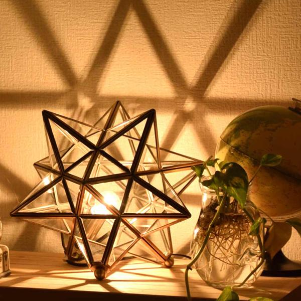 DI CLASSE テーブルライト Etoile フロスト/クリア LT3675 テーブルランプ フロアランプ フロアライト 照明 おしゃれ 間接照明 北欧 南欧 ランプ ベッドサイド 寝室 ガラス 真鍮 星 モロッコ 一人暮らし リビング用 居間用