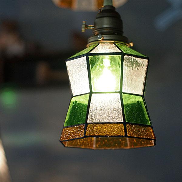 ペンダントライト Helm(ヘルム) AW-0372 照明器具 天井照明 ペンダントランプ アンティーク カントリー シャビーシック 玄関 ダイニング用 リビング用 ナチュラル カフェ ガラス おしゃれ ステンドグラス