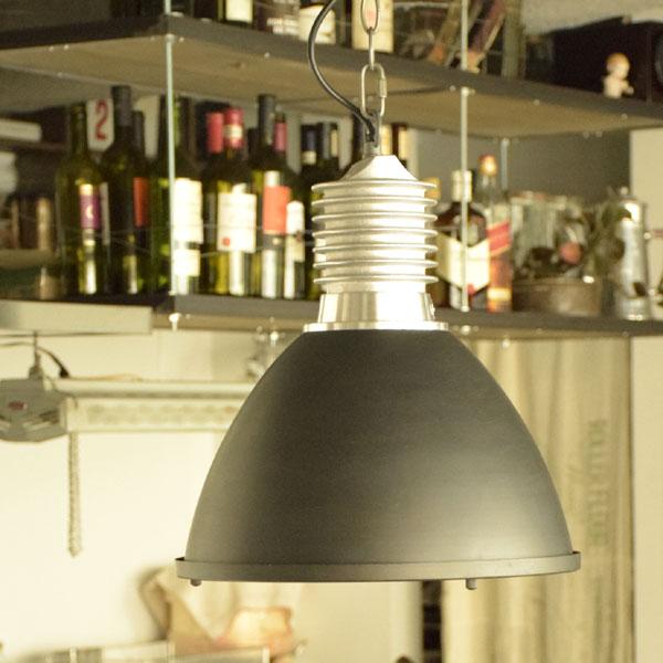 ペンダントライト BYRON LAMP ブラック/サックス/シルバー CM-003 インダストリアル ヴィンテージ ブルックリン 西海岸 カリフォルニア 男前 北欧 リビング用 居間用 ダイニング用 食卓用 照明 間接照明 1灯
