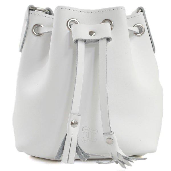 おすすめ ブランド メンズ レディース プレゼント GRAFEA グラフィア MINI BUCKET WHITE ミニ バケット レザー ショルダーバッグ ミニサイズ レディース