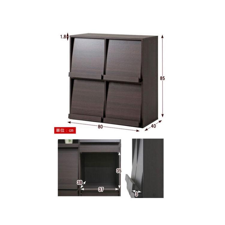 2 Record Rack Storage Case Lp Furniture 4 Squares Display Shelf Ornament Trout