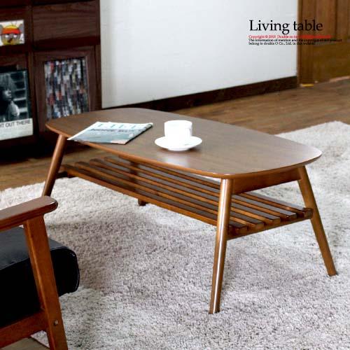 ローテーブル 木製 テーブル オーバル 長方形 テーブル 折りたたみ ソファーテーブル 折れ脚 棚付き アンティーク 木製 センターテーブル おしゃれ