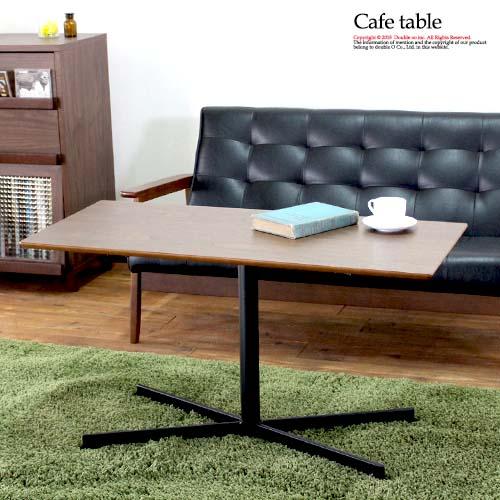 【代引き可】105cm カフェ センターテーブル ウォルナット ブラウン アンティーク【お値打ち】