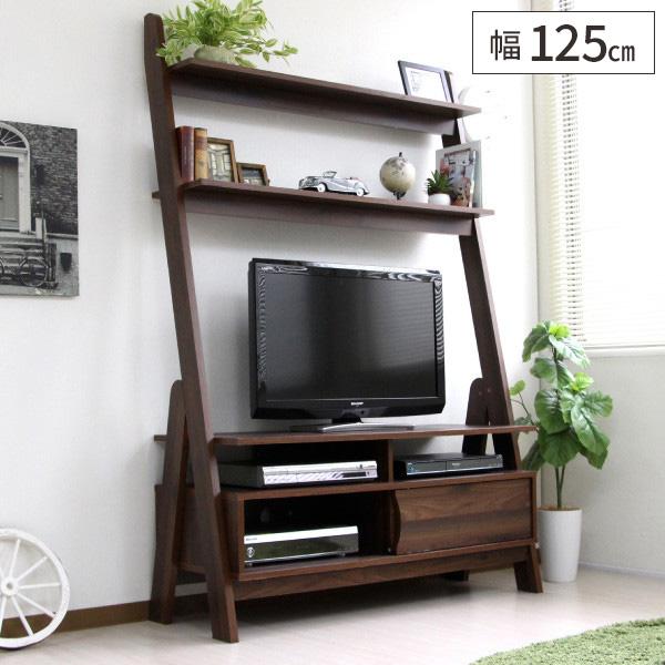 テレビ台 ハイタイプ 120 北欧デザイン リビング収納 壁面収納 テレビボード ウォルナット 木製