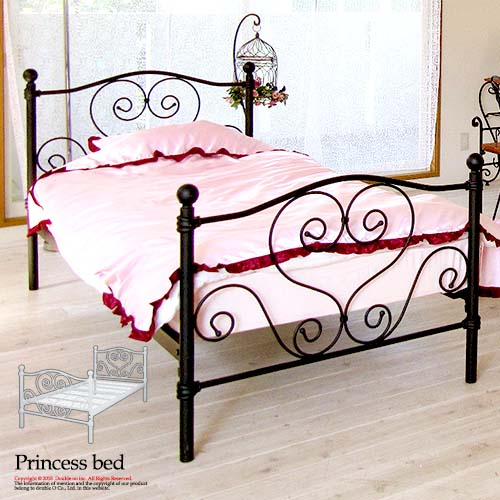 size 40 7e9b4 7a9b5 Lovely iron bed single unit made of steel wrought iron white antique white  white black metal bed European pipe adult 10P20Nov15