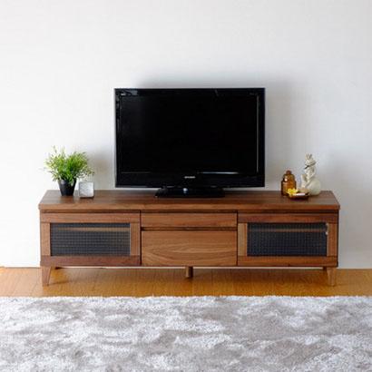 テレビ台 テレビボード TV台 TVボード ウォルナット ウォールナット 無垢 木製 150cm 150幅 完成品 ブラウン