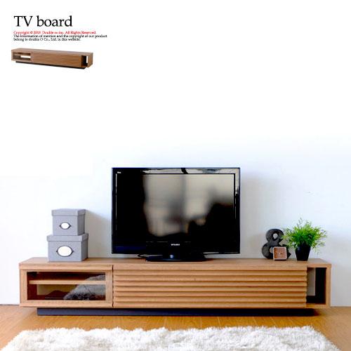 テレビ台 ローボード 幅180cm 完成品 無垢 おしゃれ 北欧 木製 テレビボード TV台 テレビ 台 リビングボード TVボード ロータイプ オーク材