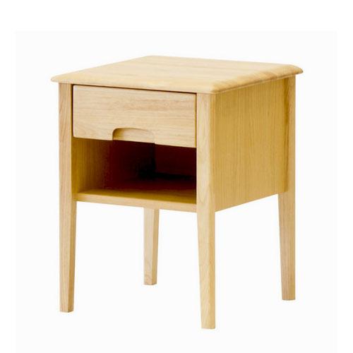 サイドテーブル 木製 ナチュラル 引き出し 収納 幅40cm ソファサイドテーブル コンパクト ベッドテーブル ナイトテーブル 棚 ラック 無垢 無垢材