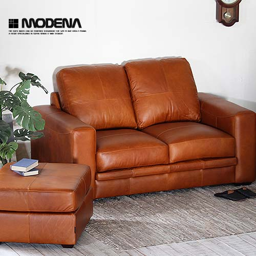 Genuine Leather Two Seat Open The Package Installation Free Sofa Oil