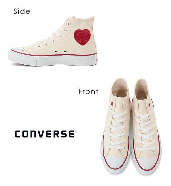 匡威CONVERSE邮购ALL STAR HEARTPATCH HI全明星心补丁HI拉锁寿司明星匡威运动鞋女子的高cut鞋帆布心
