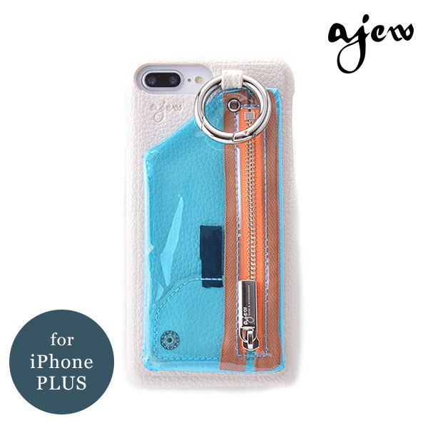 fl2017001p iphone8plus iphone7plus 手帳ケース リング付き (7plus/8plus) A SCENE Flip Pocket case ケース エーシーン シンプル カード収納