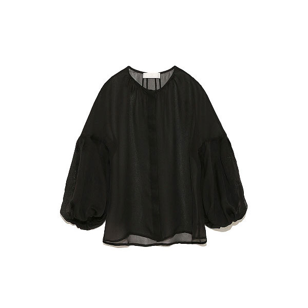 セルフォード CELFORD 刺繍ブラウス トップス ブラウス 無地 長袖 刺繍 レディース ボリューム袖 ドロップショルダー 透け感 シースルー 大人 上品 ママ ホワイト ブラック ベージュ cwfb184059 オフィスカジュアル
