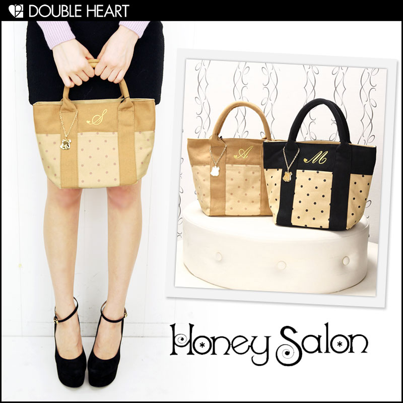 Recommended for honey Salon [honey salon] bag final disposition Super gift ♪ classical dotinitialtort | ladies/bag/cotton bag and lunch bags | (FHB-0600)