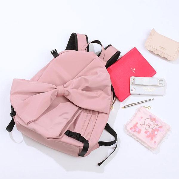 ハニーサロン Honey Salon ビッグリボンリュック バッグ レディース バッグ リュック リュックサック 黒 ピンク バッグパック 鞄 かばん 通学 スクールバッグ リボン fhb-1244