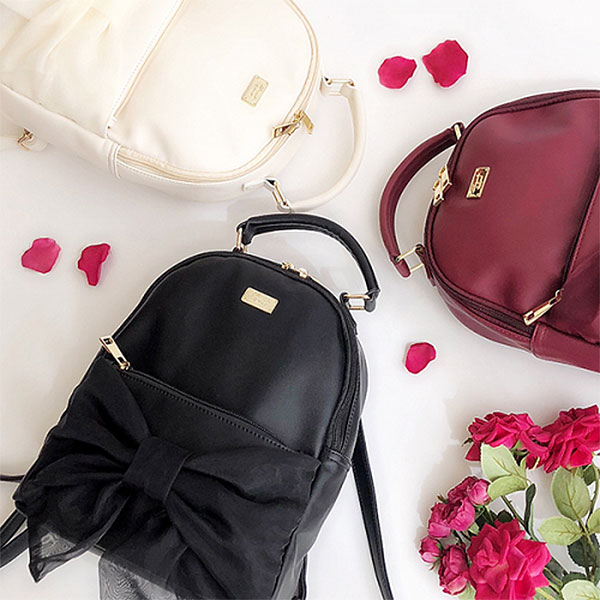 ハニーサロン Honey Salon オーガンジーリボンリュック バッグ レディース リュック リュックサック 黒 バッグパック 鞄 かばん 通学 スクールバッグ リボン fhb-1257