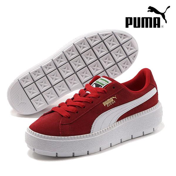 PUMA プーマ 通販 PLATFORM TRACE WNS MU プラットフォームトレース ウィメンズ レディース シューズ 靴 スニーカー スウェード メタリック ロゴ カジュアル スポーツ 367980