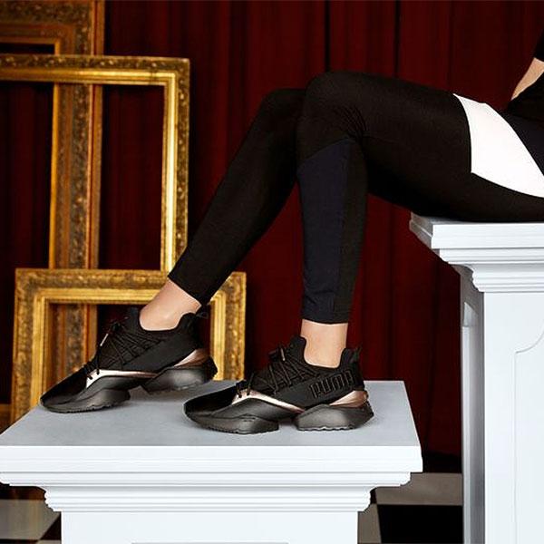 PUMA プーマ 通販 プーマ ミューズマイア Luxe ウィメンズ レディース シューズ 靴 スニーカー スポーツ スポーティー メタリック ロゴ プルタブ ホワイト ブラック 366766