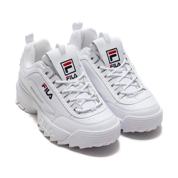 《クーポン対象》フィラ FILA 通販 DISRUPTOR 2 ディスラプター2 レディース シューズ 靴 ホワイト スニーカー レトロ インソール ラバーソール 厚底 プラットフォーム ダッドシューズ DAD SHOES ストリート WHITE 1072 f0215