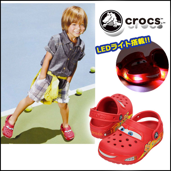 也对钟表(crocs)小孩正规的物品crocslights Cars clog钟表权利汽车椰子凉鞋Beach sandal吊带男人的孩子车迪士尼协作邮购礼物礼物推荐!