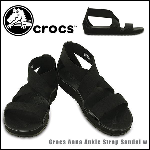 악어 (crocs) 여성용 샌들 정품 crocband crocs anna ankle strap sandal w 안 나 발목 스트랩 샌들 위 남자 여성 샌들 샌들 편한