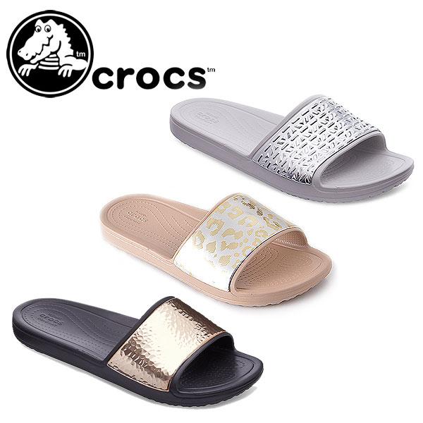 f78658ae41100 DOUBLEHEART  Clocks crocs Women s Crocs Sloane Graphic Slides Lady s ...